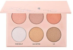 KFree Shipping NEW Makeup Nicole Powder Highlighters 6 Colors Powder Palette