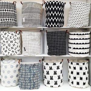 아기 INS 세탁 바구니 Cartoon Storage 캔버스 가방 Drawstring 가방 키즈 Hanging Bag 13 Styles OOA2470