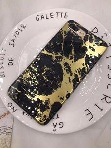 IMD chapado en oro que broncea la caja de mármol de TPU para el iPhone 6 7 Plus colorido brillante del IMD cubierta de TPU para el iPhone 6 6s