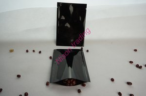 6 * 9cm 200pcs / lot 블랙 알루미늄 도금 일반 주머니, 마일 라 호 일 쿠키 / 비스킷 플랫 가방 상단 열기 열 씰링, 저장소 사탕 ping 주머니