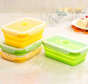 Silicone pliable Boîte à lunch de Portable Déjeuner Container Bento Boîte de rangement pour pique-nique ou domestiques