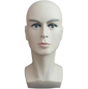 Cabeça de manequim masculino manequim chapéu peruca cabeça de treinamento modelo de cabeça dos homens superior do corpo-display