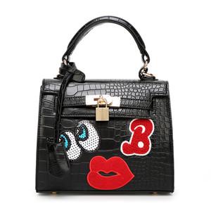 Nuevo Arrvial Style moda ojo labio estrella Girl Cute Bag Weekender Purse Tote Travel Duffle bolso 4 colores eligen