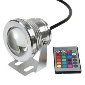10 와트 12 볼트 RGB 수중 Led 빛 투광 조명 CE / RoHS IP68 950lm 16 색상 변경 원격 분수 수영장 장식 1 개