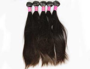 LUMMYBrazilian Hair Unprocessed Human Hair Weaves Peruvian Malaysian Indian Hair Extensions Straight 3 Bundles Natural Black