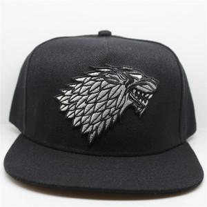 Chapeau de loup casquettes de baseball Snapback Une chanson de Lce et de feu hiver est à venir Game of Thrones House Stark de Winterfell