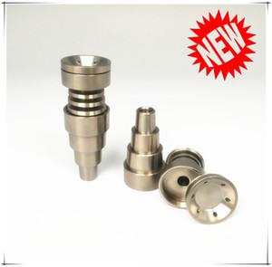 Voll einstellbare Titanium Nägel 6 in 1 fit für 10/14 / 18mm Weibliche und männliche gemeinsame Glasrohr 3 Teile Domeless Titan-Nagel-Carb-Fabrik-Preis