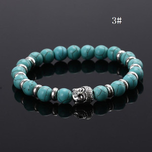 2016 Black Lava Stone Bead Buddha Bracelets For Women and Men Jewelry Natural Stone Bracelets & Bangles pulseras 11Color Mix b033
