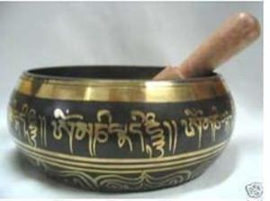 L'origine du bouddhiste Népal Buddha sound bowl Bouddha Tournez le pot