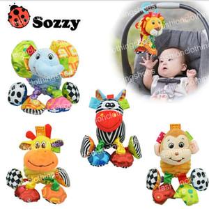 Sozzy Baby Vibrated Felpa Animal León Juguete Sonajero Crinkle Sound 18 cm Soft Stuffed Multicolor Multifunción Juguete