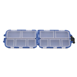 Wholesale- Fishing Tackle Box 10 Compartments Fishing Lure Spoon Hook Bait Tackle Case Box Fishing Accessories Tools