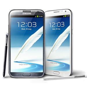 Samsung Galaxy Note2 Note 2 N7100 N7105 5.5 pulgadas Quad Core 16GB 3G WCDMA 4GLTE Teléfonos celulares desbloqueados LCD original