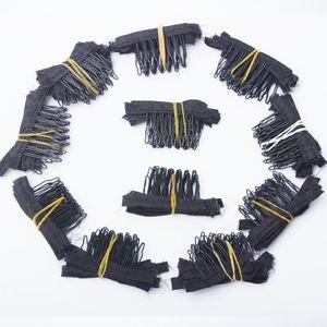 Venta al por mayor 100 unids Clips 7 dientes para peluca Cap Making Combs extensiones de cabello herramientas