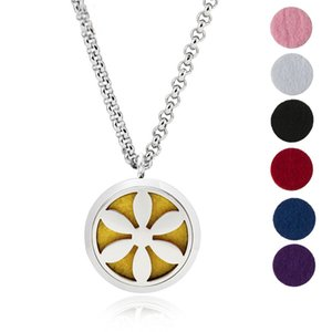 Aroma Jewelry-30mm Essential Oil Diffuser Necklace Pendant 316L Stainless Steel With 24