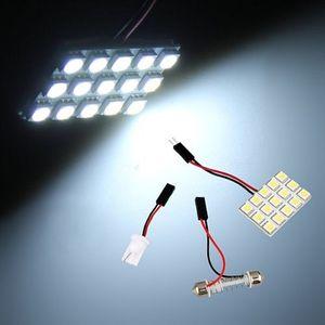 20x iceblue - 6-SMD Bianco-16-SMD Bianco-15-SMD Ba9s T10 5050 LED automobile pannello interno della luce di cupola del festone della lampada fai da te