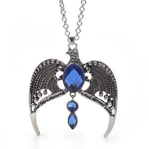 Al por mayor-Ravenclaw Collar Horcrux Vintage Antique Silver Eagle Crown Diadema colgante de joyería de moda para los fanáticos del regalo del partido