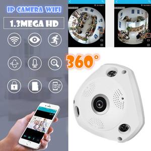 V380 3D VR كاميرا 360 درجة كاميرا IP بانورامية 960P 1.3MP WIreless كاميرا واي فاي IP فتحة بطاقة SD وضع عرض متعددة