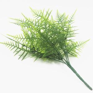 التقسيم الديكور محاكاة نبات السرخس الأخضر 7 رئيس 35 شبكة البلاستيك الفارسي العشب الفارسي ورقة 20 قطعة / الوحدة