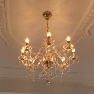 araña de cristal de oro 8 luces araña de techo moderna araña moderna arañas de cristal lámpara de estilo veneciano de murano