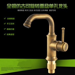 Free shipping kitchen faucet Fashion Antique Kitchen Swivel Basin Sink Deck Mounted torneira cozinha single Handle Faucet mixer Tap