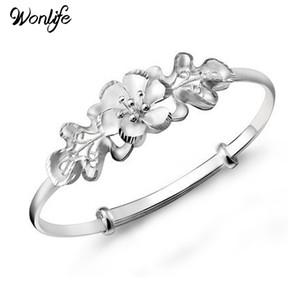 Nouveau Design Bauhinia Forme Argent plaqué style chinois Fleur Bracelet / Bracelets Bijoux De Mariage Femmes