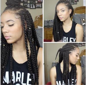 Оптовые 3d Cubic Twist Косички для вязания крючком Afri-Naptural 3D SPLIT Marley косы синтетические ombre плетение волос пучки вьющиеся плетения утка США