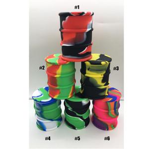 500 ml grandes frascos de contenedores de barril de aceite de silicona de grado alimenticio Dab Cera Vaporizador Aceite de goma Tambor en forma de contenedor Caja de dabber de hierba seca de silicio