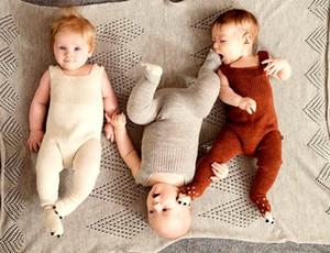 INS Xmas Mão Tricô De Algodão Macio 0-3 anos Bebê Recém-nascido Romper Quente Para O Menino Meninas Meninos roupas de inverno Macacão Macacões Inverno