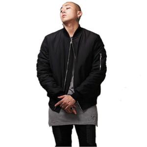 Giacca da uomo di moda stile nero Giacca da uomo in stile hi-street Giacca da uomo slim fit Hip Hop