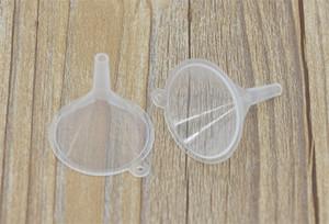 Wholesale- Free shipping 10pcs Small Plastic For Perfume Diffuser Bottle Mini Liquid Oil Funnels Labs