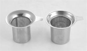 Nuevo llega Malla de acero inoxidable Infusor de té Colador reutilizable Filtro de hojas de té suelto DHL FEDEX gratis