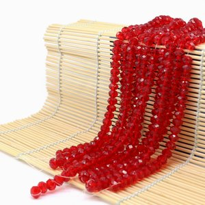 Glass Rondelle Beads Med.siam color