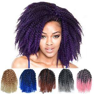 ZF Crochet Trecce Dreadlocks 8 pollici Mali Bob Marley Treids Twists Capelli per le donne nere 3pcs / set afro