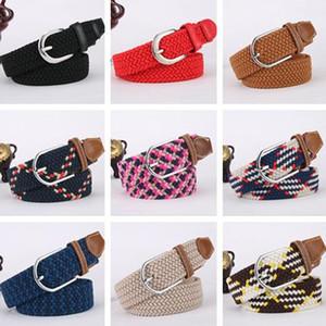 Belt Kintted striped Canvas Causal belts Designer belts Multi color Designers Elastic for unisex Fashion pin buckle belts Colorful belt