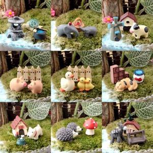 Ensemble de 3x Animal 2017 Top Vente DIY Fée Jardin Ornement Miniature Résine Figurine Artisanat Plante Pot Décor AL3310