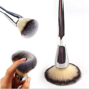Beauty Powder Brush Blush Foundation Round Make Up Tool Cosmetics Aluminum Brushes Soft Face Makeup