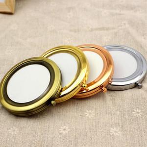 Ücretsiz Kargo 70mm Cep Kompakt Ayna Yuvarlak Metal Gümüş Makyaj Aynası şekeri Promosyon Hediye 200 ADET / GRUP F2017224