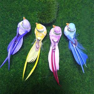 12 * 3 * 3 CM, 4 STÜCKE Dekorative Künstliche Schaum Feder Mini Bunte Vögel, DIY Handwerk Hochzeit Dekoration Lieferungen, Vogel Ornament Hause HWD10