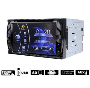 262 Car Audio Pantalla táctil digital 6.2 pulgadas Bluetooth FM Llamadas manos libres Radio auto Doble Din 32G Reproductor de DVD para auto En el tablero Video estéreo