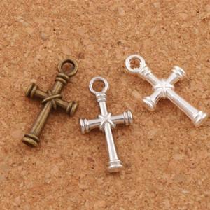 Nail Cross Charms Colgantes 150 unids / lote 3 Colores Plata Antigua / Bronce Colgante de Joyería DIY L482 11.1x20.7mm