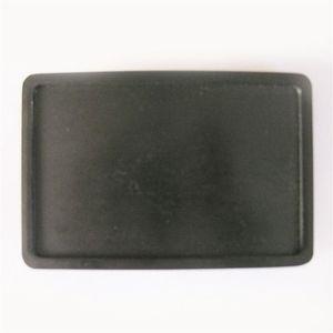 Fibbia per cintura da uomo Classic Black Plated Rectangle Blank Fibbia per cintura Custom Belt Buckle BUCKLE-BL004BK Brand New