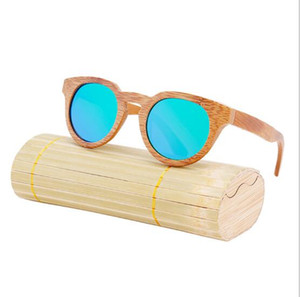 2017 New fashion Products Men Women Glass Bamboo Sunglasses au Retro Vintage Wood Lens Wooden Frame Handmade