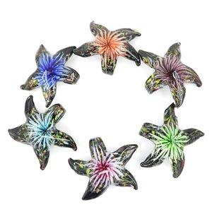 Lampwork Cam denizyıldızı Kolye karışımı el yapımı denizyıldızı boncuk kolye ile renkler için 12 adet / paket MC0057