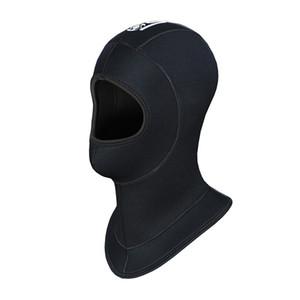 Wholesale- Genuine Slinx Brand 5MM Thickened Neoprene Scuba Dive Caps Hood Hat Keep Warm Cold Proof Winter Swim Wetsuit Wet Suit Equipment