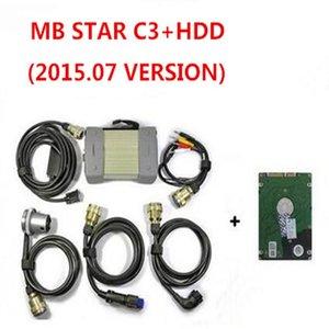 Top Quality MB STAR C3 Profissional para caminhão do carro benz MB STAR C3 com mb C3 Software hdd v2015.07 DHL livre