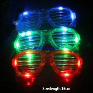 LED Shutter Glasses Full Light Shutter Glasses star Square Clover Love Glass fashion For Club Party Kids Adult Sunblock HH-G17