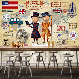 Custom Wallpaper European American Street Sofa Background Wall Coverings Cafe Bar Restaurant Lounge Wall-paper Large Wall Mural