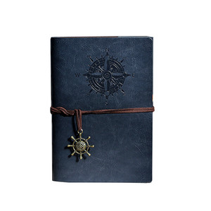 Classic Vintage Retro Classic Leather Notebooks Blank Pages And Journals Copper Plated Sea Pirate Anchor Travel Paper Sketchbook