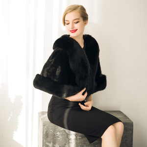 Modabelle Faux 모피 결혼식 부속품 2018 Jacket Bridal Winter Warm Bride Wrap Shawl Cape Short Coat