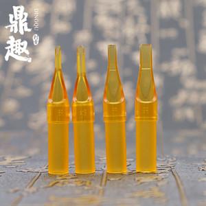 Bouts de tatouage de haute qualité pour l'aiguille de pistolet de tatouage jaune jetable outil de pointe de tatouage de désinfection TG3127